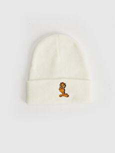 Garfield Nakışlı Triko Bere