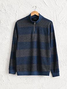Stand-up Collar Thin Sweatshirt