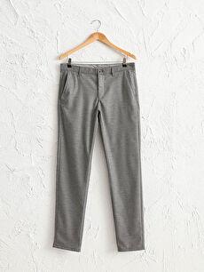 Slim Fit Dokulu Pantolon