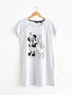Minnie Mouse Baskılı Hamile Gecelik