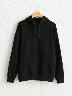 Kapüşonlu Basic Kalın Sweatshirt