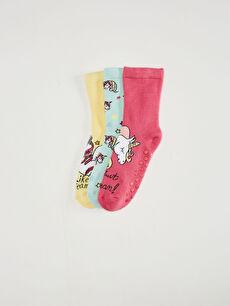 Kız Çocuk Soket Çorap 3'Lü
