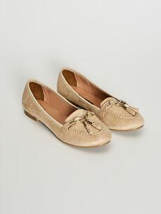 Kadın Püsküllü Loafer Süet Ayakkabı