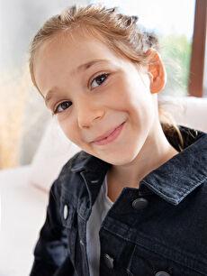 Kız Çocuk Jean Ceket