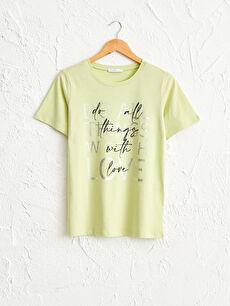 Baskılı Pamuklu Tişört