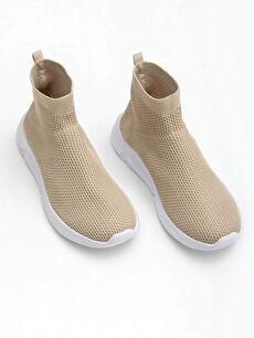 Kadın Bilekli Çorap Model Spor Ayakkabı
