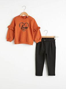 Kız Bebek Sweatshirt ve Pantolon