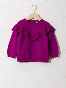 Kız Bebek Fırfır Detaylı Sweatshirt