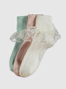 3-pack Girl's Ankle Socks