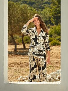 Oopscool X Lcwaikiki Çiçek Desenli Blazer Ceket