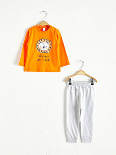 Комплект пижами с принт за бебе момче