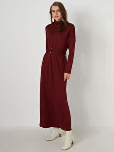 Kemerli Uzun Elbise
