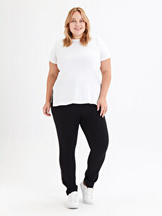 İşıltılı Şerit Detaylı Harem Pantolon