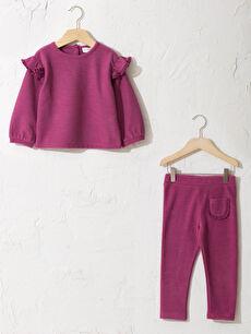 Kız Bebek Sweatshirt Ve Tayt Takım