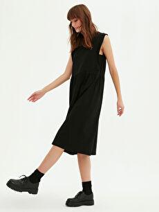 Basic Pamuklu Kloş Elbise