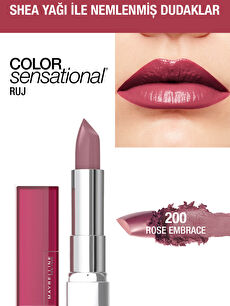 Maybelline New York Color Sensational Ruj - 200 Rose Embrace - Gül Kurusu