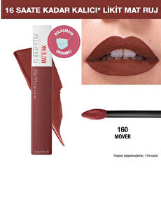 Maybelline New York Super Stay Matte İnk Likit Mat Ruj - 160 Mover - Kahverengi