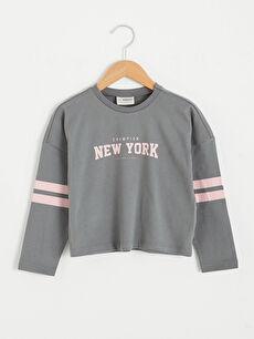 Girl's Printed Cotton T-Shirt
