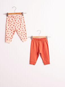 Kız Bebek Pijama Alt 2'Li
