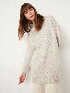 Half Turtleneck Oversize Knitwear Tunic