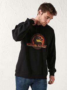 Mortal Kombat Printed Thick Hooded Sweatshirt