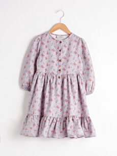 Girl's Figured Flannel Dress