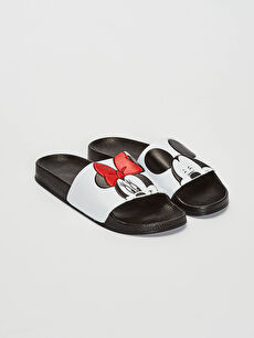 Kadın Minnie ve Mickey Mouse Lisanslı Terlik