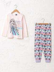 Kız Çocuk Elsa Pamuklu Pijama Takımı