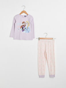 Kız Çocuk Frozen Baskılı Pamuklu Pijama Takımı