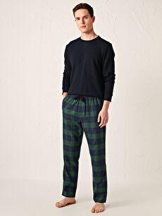 Standart Kalıp Ekose Pijama Alt