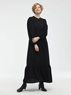Beli Bağlama Detaylı Elbise