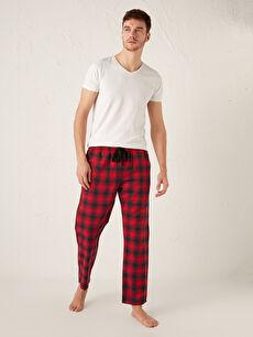 Standart Kalıp Ekose Erkek Pijama Alt