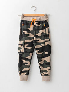 Elastic Waist Camouflage Pattern Boy Cargo Jogger Sweatpants