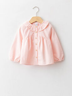 Crew Neck Long Sleeve Velvet Baby Girl Shirt