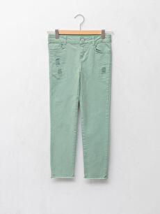 Skinny Fit Gabardine Girl Trousers