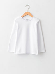 Базовая футболка оверсайз с круглым вырезом и длинным рукавом