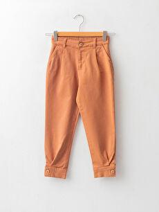 Basic Cotton Girls' Trousers