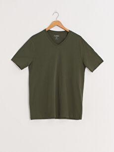 LCW BASIC V Yaka Kısa Kollu Basic Tişört
