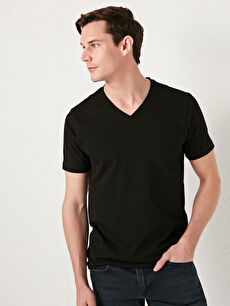 LCW BASIC V Yaka Kısa Kollu Basic Erkek Tişört
