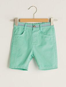 Basic Elastic Waistband Baby Boy Shorts