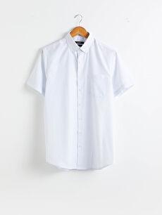Regular Fit Kısa Kollu Oxford Gömlek