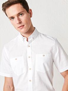 LCW BASIC Regular Fit Kısa Kollu Poplin Gömlek