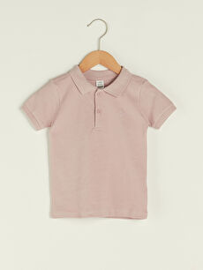 Polo Neck Short Sleeve Basic Baby Boy T-Shirt