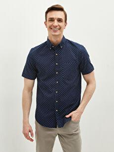 LCW CLASSIC Regular Fit Short Sleeve Oxford Men's Shirt