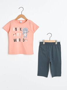 Baskılı Pamuklu Erkek Bebek Pijama Takımı