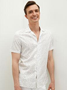 LCW CLASSIC Regular Fit Short Sleeve Poplin Men's Shirt