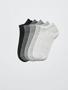 Düz Kadın Patik Çorap 5'li