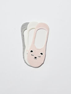 Desenli Kadın Babet Çorap 3'lü
