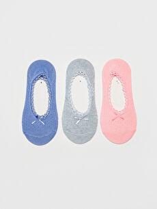 Fiyonk Detaylı Babet Çorap 3'lü