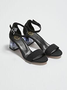 Süet Kadın Topuklu Ayakkabı